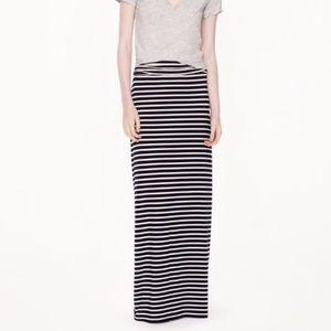 J. Crew Striped Jersey Maxiskirt